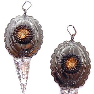 PONDEROSA LONE STAR CONCHO EARRINGS